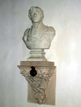 Bust at Burnham Thorpe